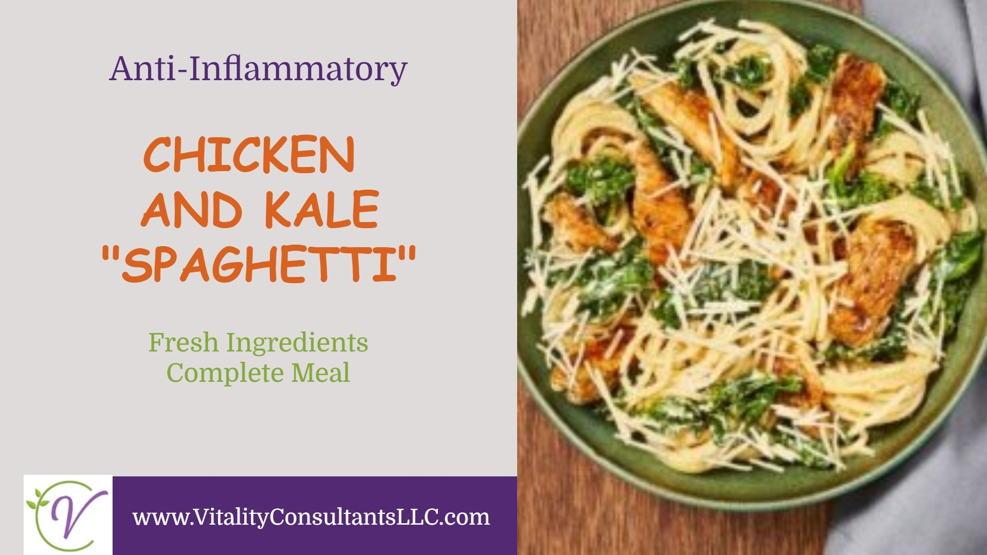 Chicken and Kale Spaghetti