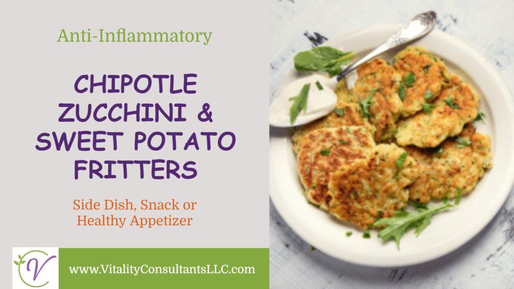 Chipotle Zucchini & Sweet Potato Fritters