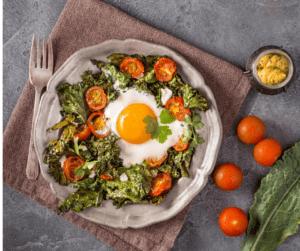 Eggs Sausage Kale Skillet