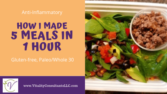 How I Made 5 Easy Healthy Meals in 1 Hour
