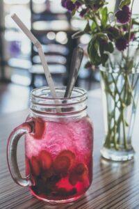 sugary pink drink