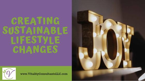 joy sustainable lifestyle changes