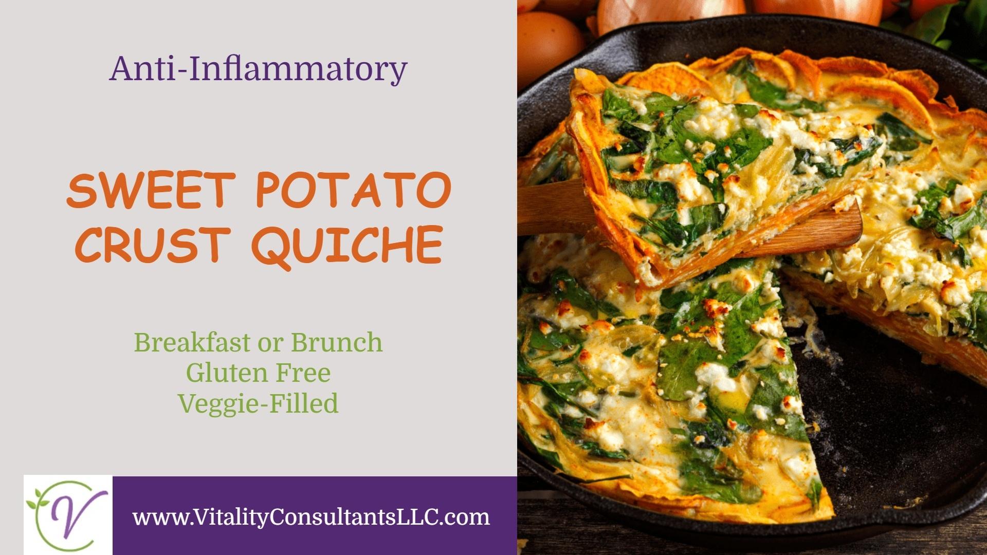 Sweet Potato Crust Quiche