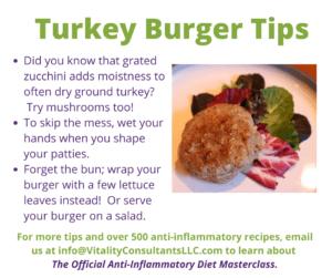 turkey burger tips