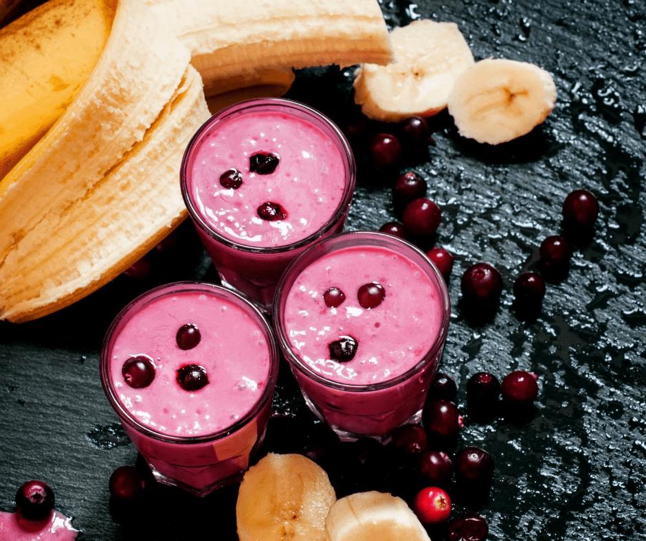 cranberry banana smoothie