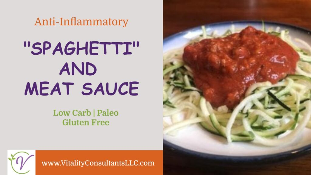 """Low Carb """"Spaghetti"""" and Meat Sauce"""