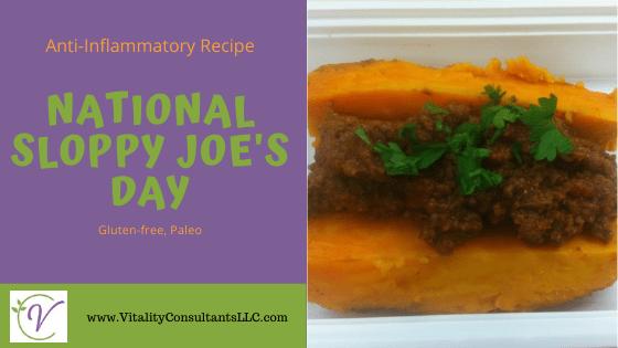 National Sloppy Joe's Day | Anti-Inflammatory Meal