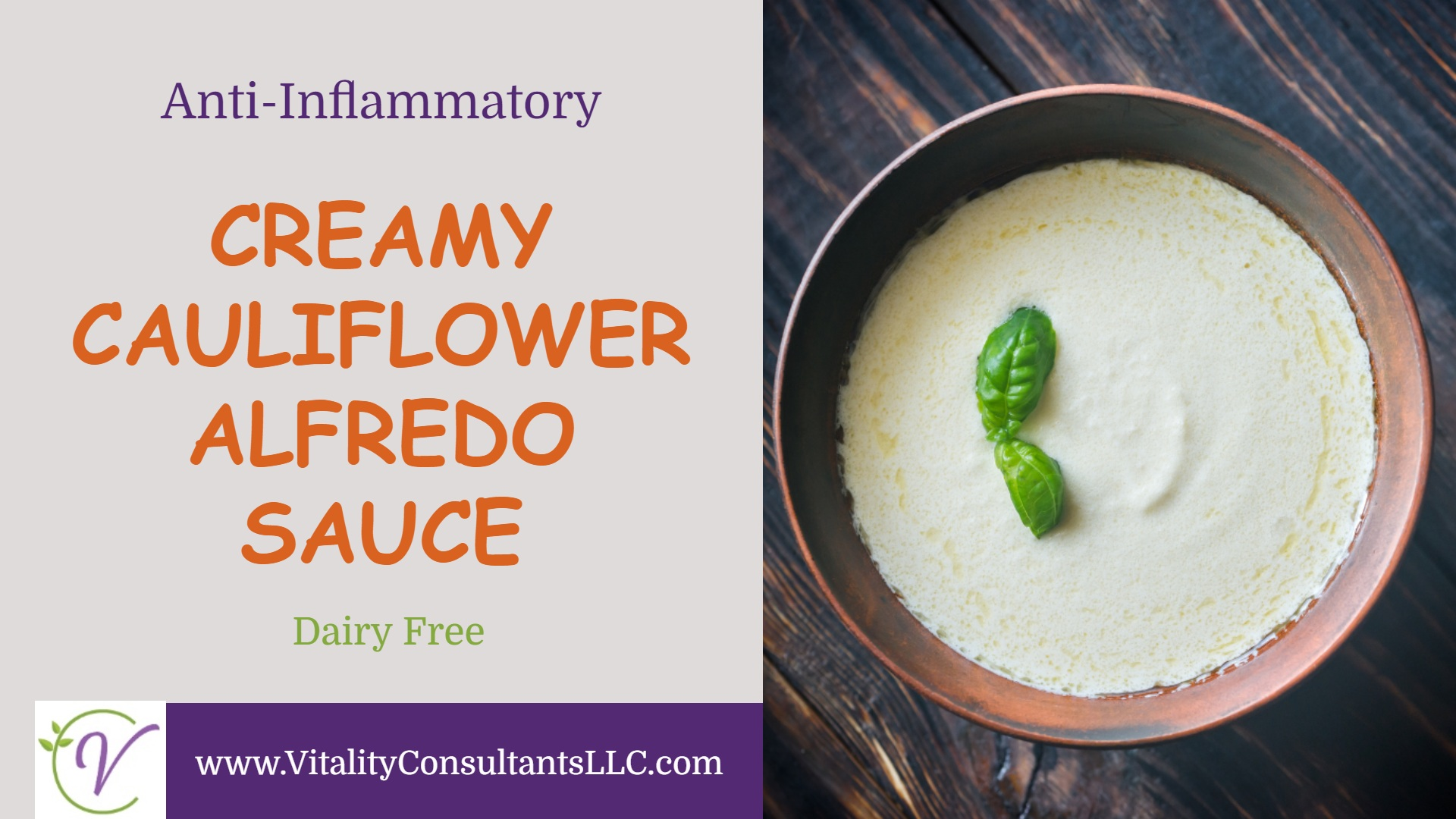 Creamy Cauliflower Alfredo Sauce