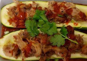 pulled pork zucchini boats
