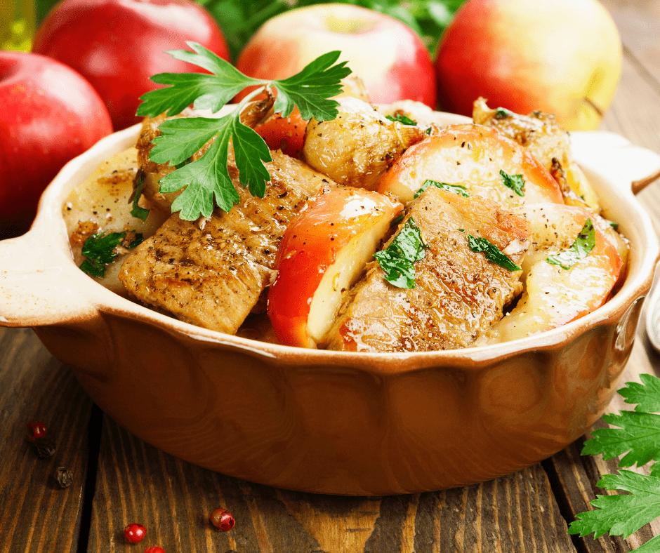 Slow Cooker Honey Pork & apples