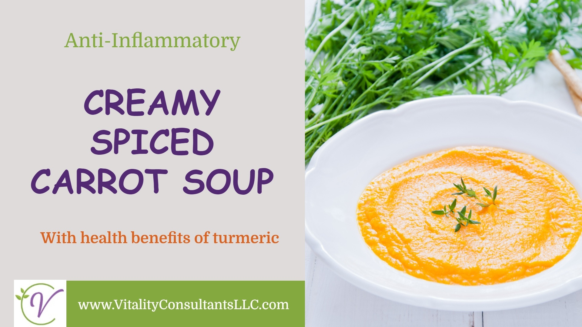 Creamy Spiced Carrot Soup