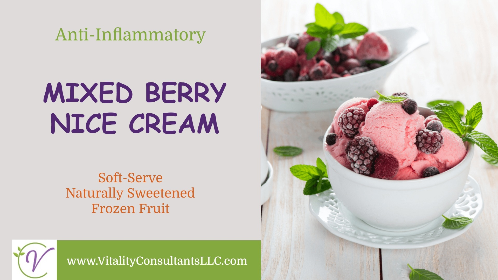 Mixed Berry Nice Cream