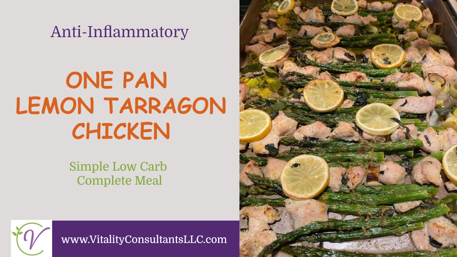 One Pan Lemon Tarragon Chicken