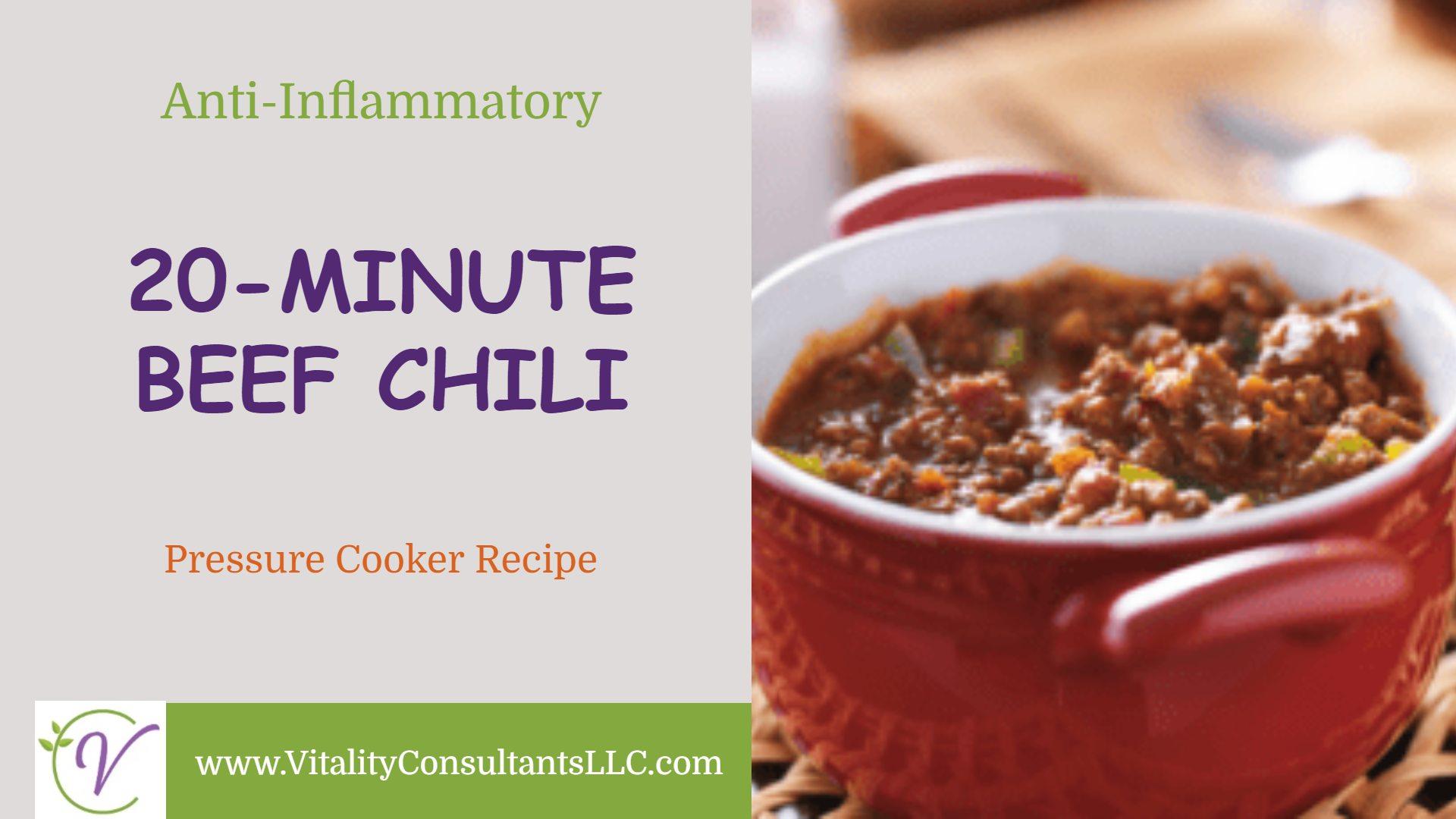 20 Minute Beef Chili