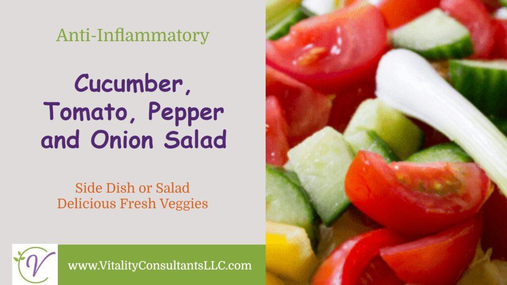 Cucumber, Tomato, Pepper & Onion Salad