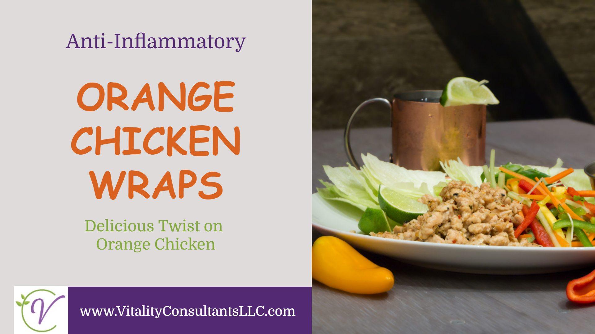 orange chicken wraps