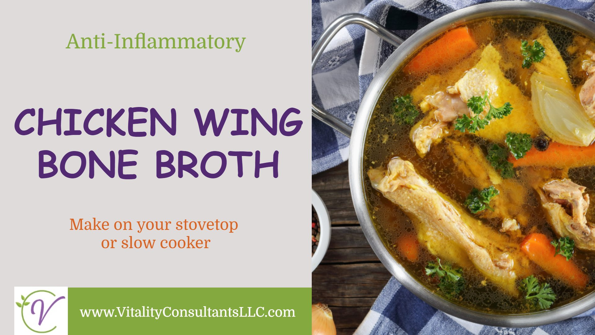 Chicken Wing Bone Broth