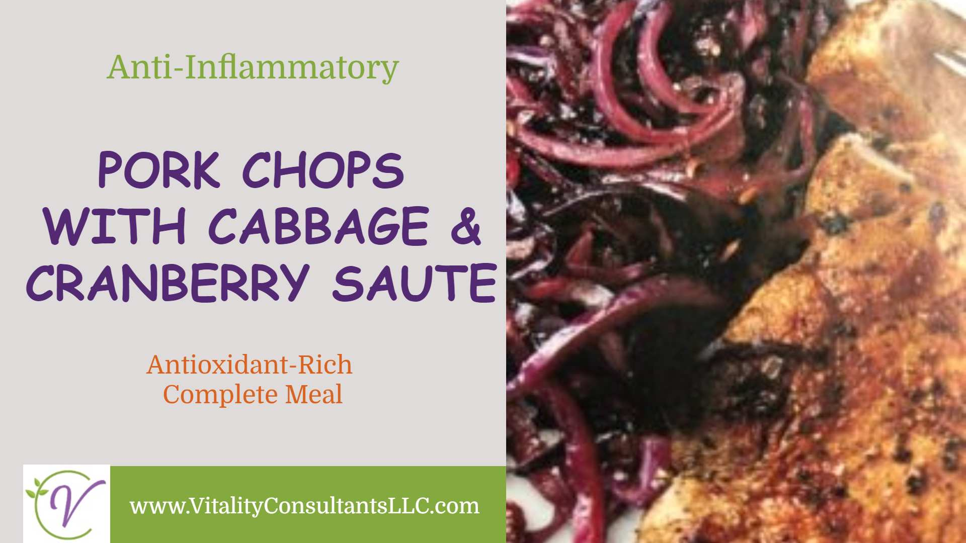 Pork Chops with Cabbage & Cranberry