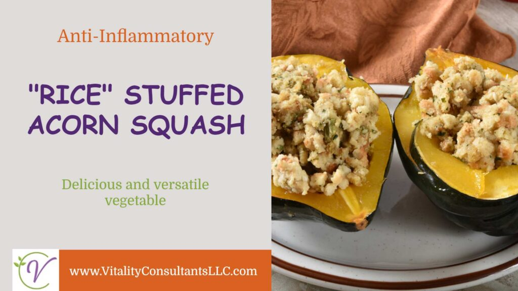 """Rice"" Stuffed Acorn Squash"