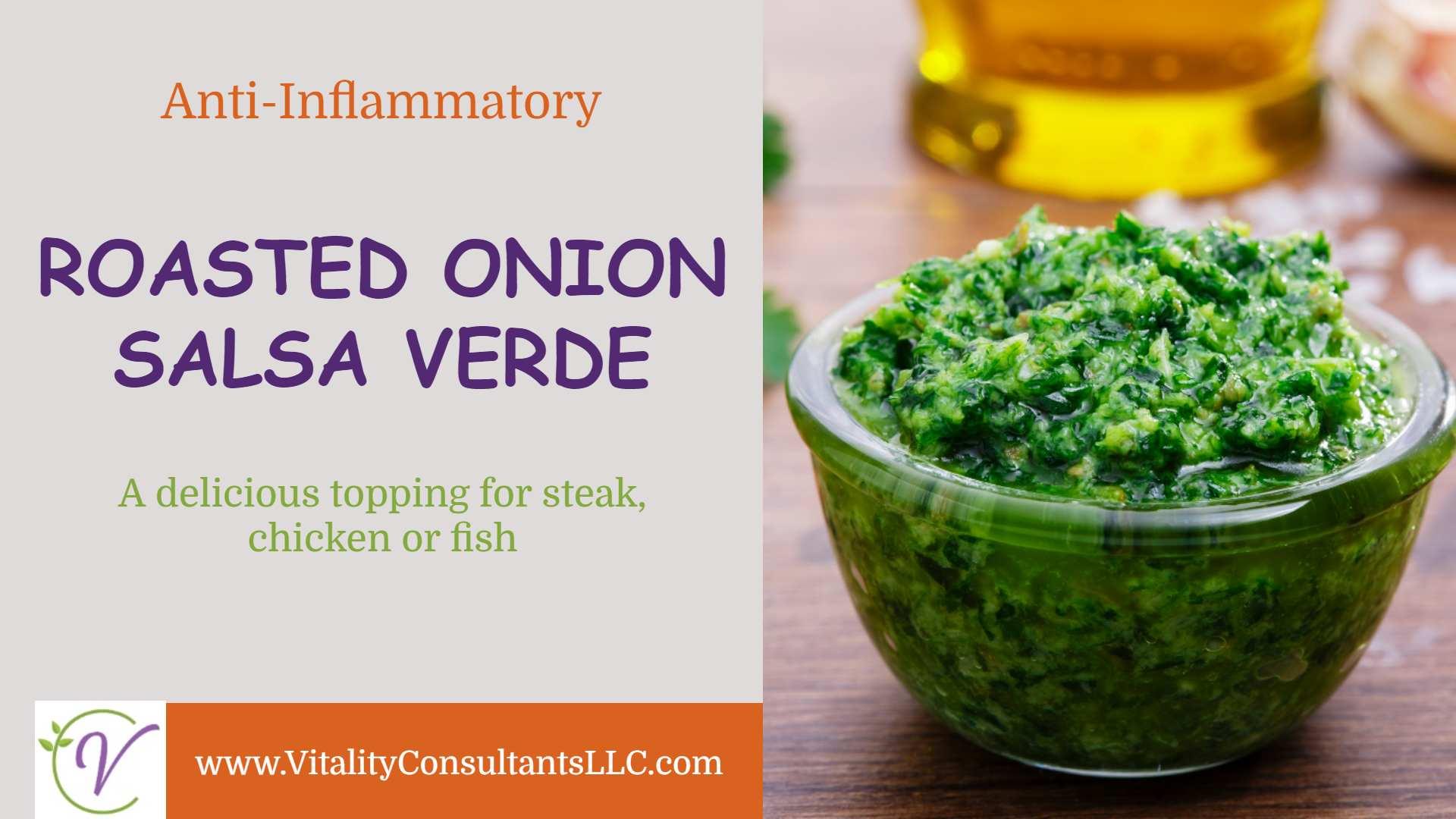 Roasted Onion Salsa Verde