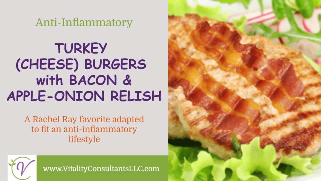 Turkey (Cheese)burgers with Bacon & Apple-Onion Relish